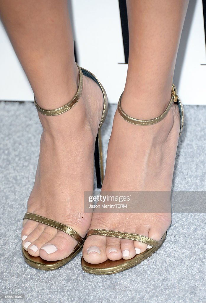 Actress Ashley Madekwe (fashion detail) attends ELLE's 20th Annual Women In Hollywood Celebration at Four Seasons Hotel Los Angeles at Beverly Hills on October 21, 2013 in Beverly Hills, California.
