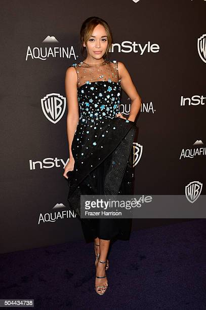 Actress Ashley Madekwe attends InStyle and Warner Bros 73rd Annual Golden Globe Awards PostParty at The Beverly Hilton Hotel on January 10 2016 in...