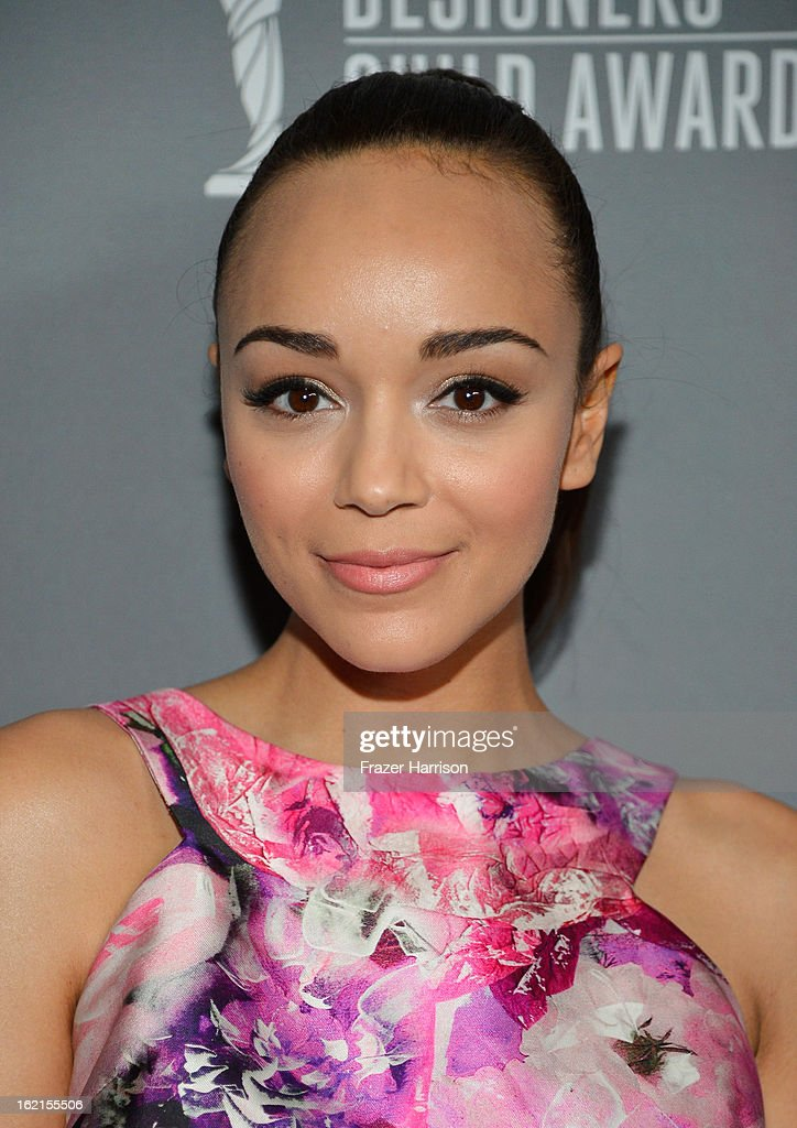Actress Ashley Madekwe attends the 15th Annual Costume Designers Guild Awards with presenting sponsor Lacoste at The Beverly Hilton Hotel on February 19, 2013 in Beverly Hills, California.