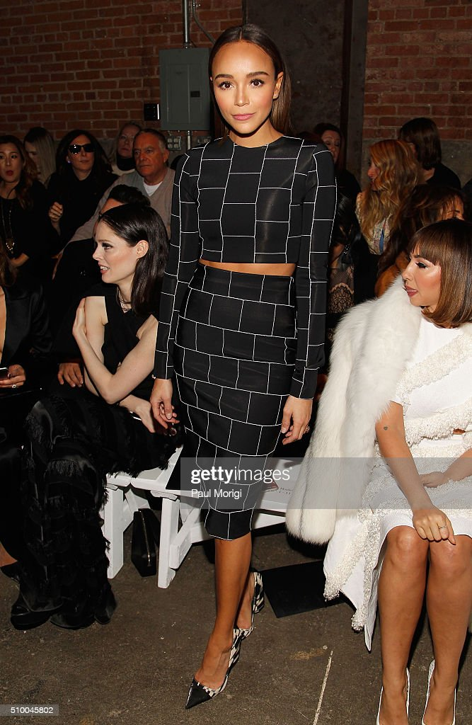 Actress <a gi-track='captionPersonalityLinkClicked' href=/galleries/search?phrase=Ashley+Madekwe&family=editorial&specificpeople=5526423 ng-click='$event.stopPropagation()'>Ashley Madekwe</a> attends the Christian Siriano Fall 2016 fashion show during New York Fashion Week at ArtBeam on February 13, 2016 in New York City.