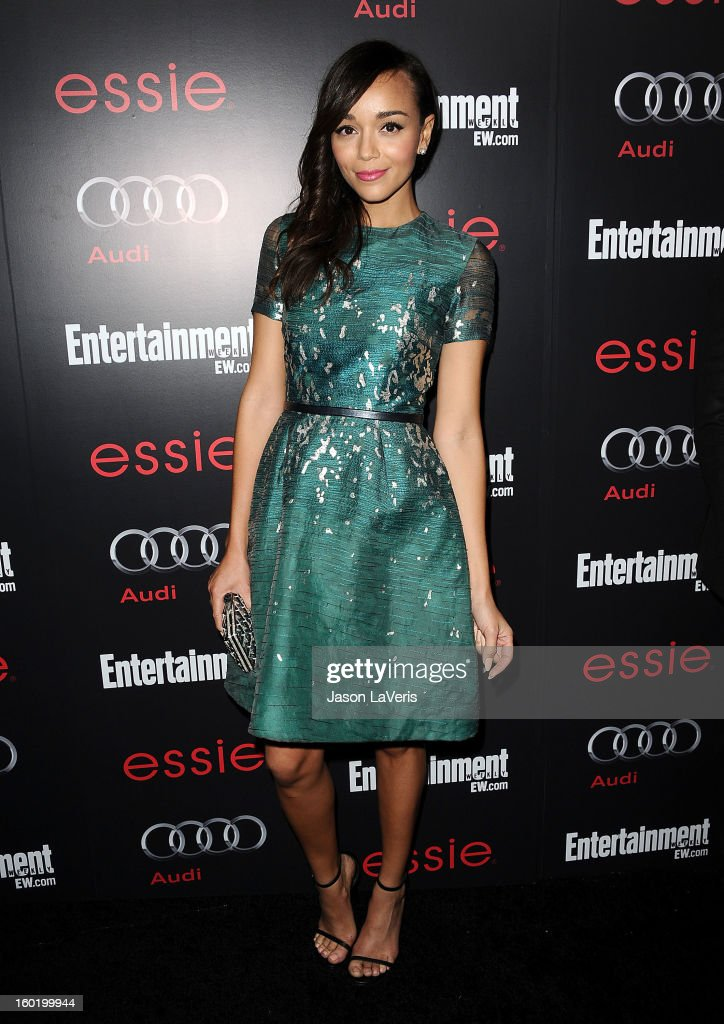 Actress Ashley Madekwe attends the Entertainment Weekly Screen Actors Guild Awards pre-party at Chateau Marmont on January 26, 2013 in Los Angeles, California.