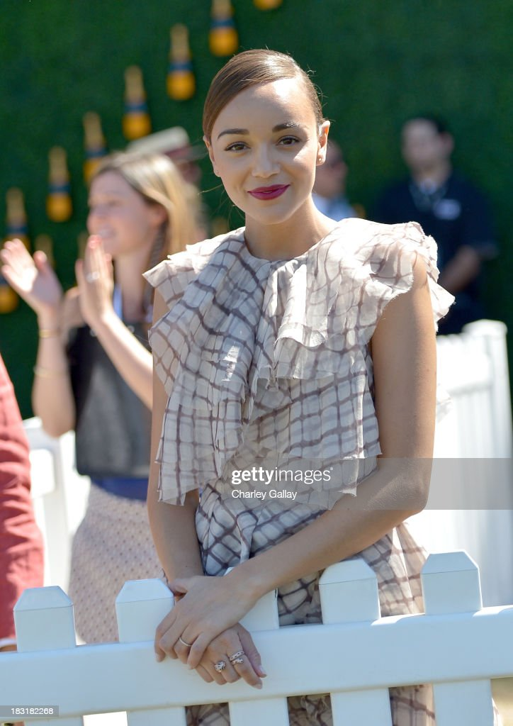 Actress Ashley Madekwe attends The Fourth-Annual Veuve Clicquot Polo Classic, Los Angeles at Will Rogers State Historic Park on October 5, 2013 in Pacific Palisades, California.