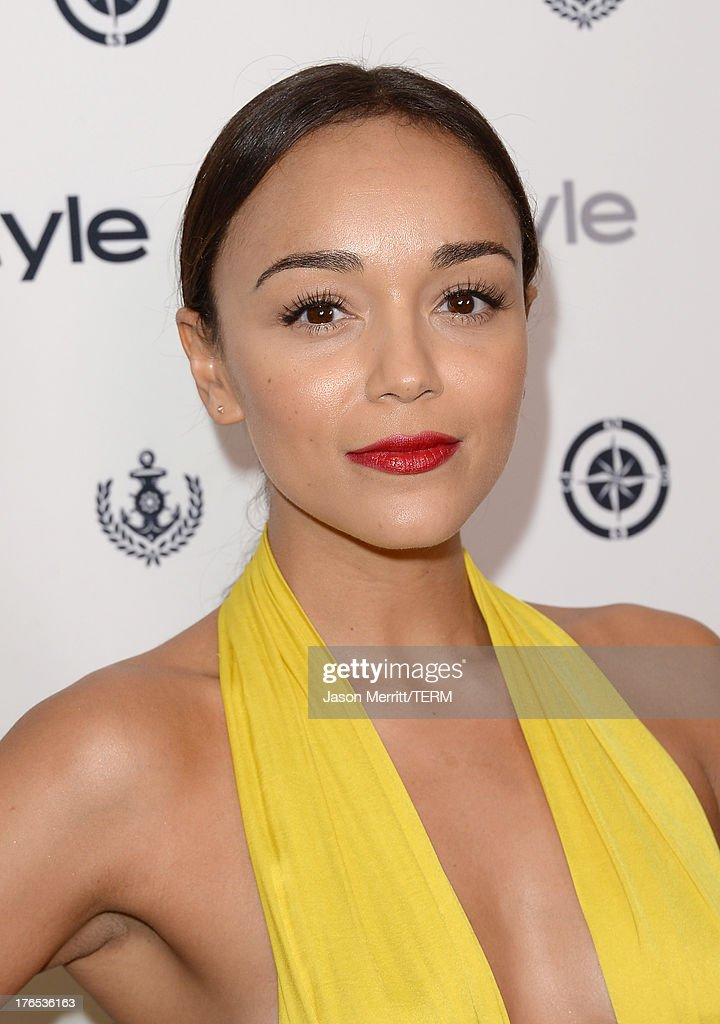 Actress Ashley Madekwe attends the InStyle Summer Soiree held Poolside at the Mondrian hotel on August 14, 2013 in West Hollywood, California.