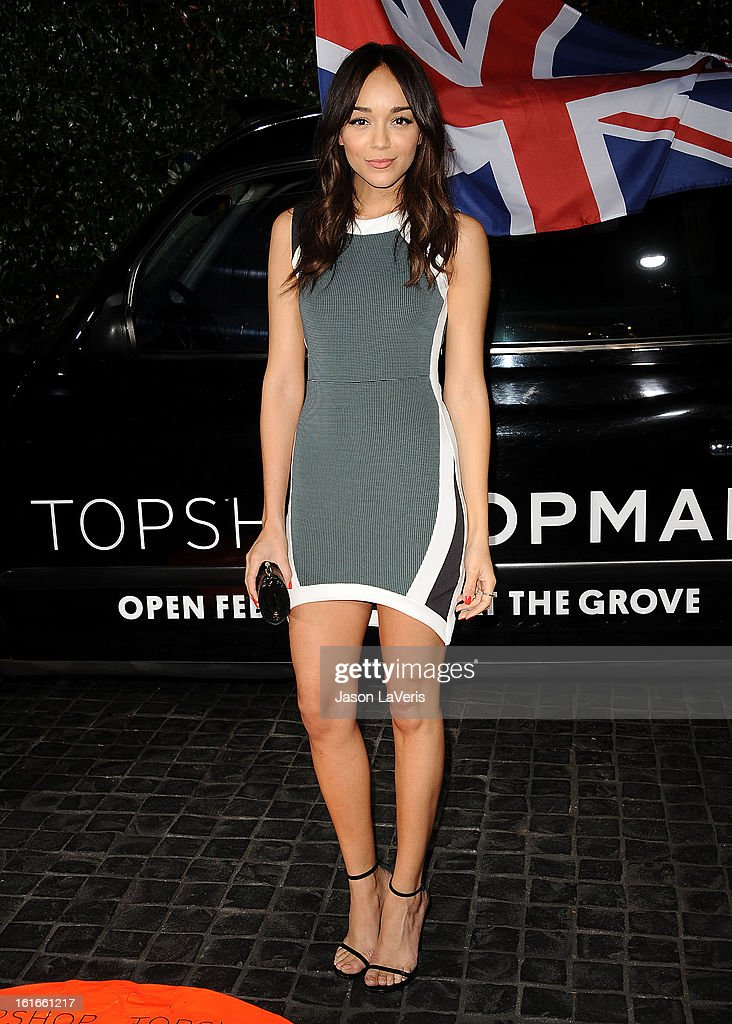Actress <a gi-track='captionPersonalityLinkClicked' href=/galleries/search?phrase=Ashley+Madekwe&family=editorial&specificpeople=5526423 ng-click='$event.stopPropagation()'>Ashley Madekwe</a> attends the Topshop Topman LA flagship store opening party at Cecconi's Restaurant on February 13, 2013 in Los Angeles, California.