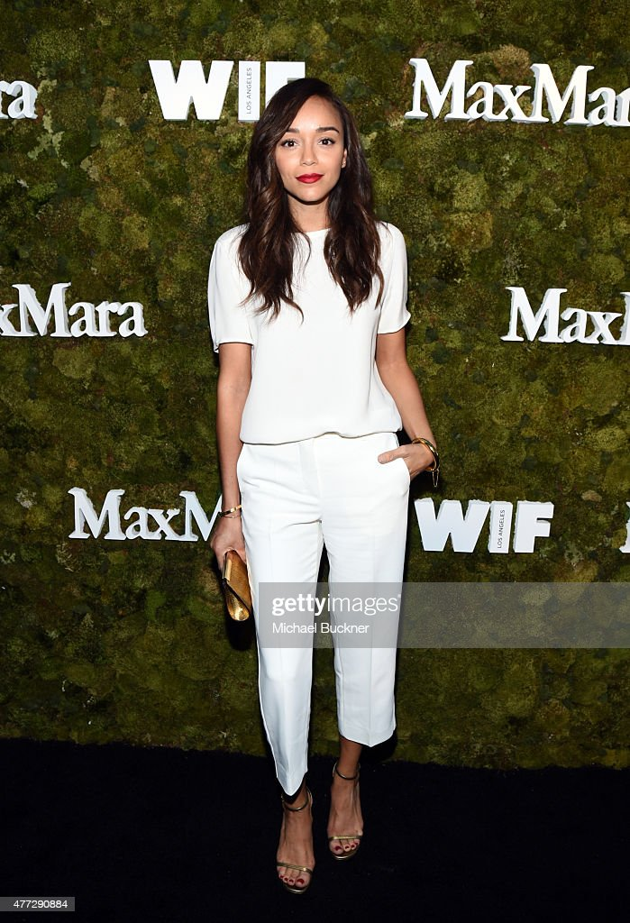 Actress Ashley Madekwe wearing Max Mara attends The Max Mara 2015 Women In Film Face Of The Future event at Chateau Marmont on June 15 2015 in West...