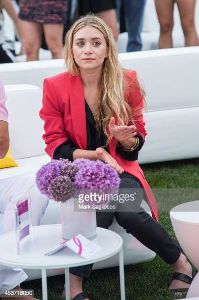 Actress Ashley Olsen attends the 3rd Annual 'The Hamptons Paddle Party for Pink' Benefit on August 16 2014 in Sag Harbor New York