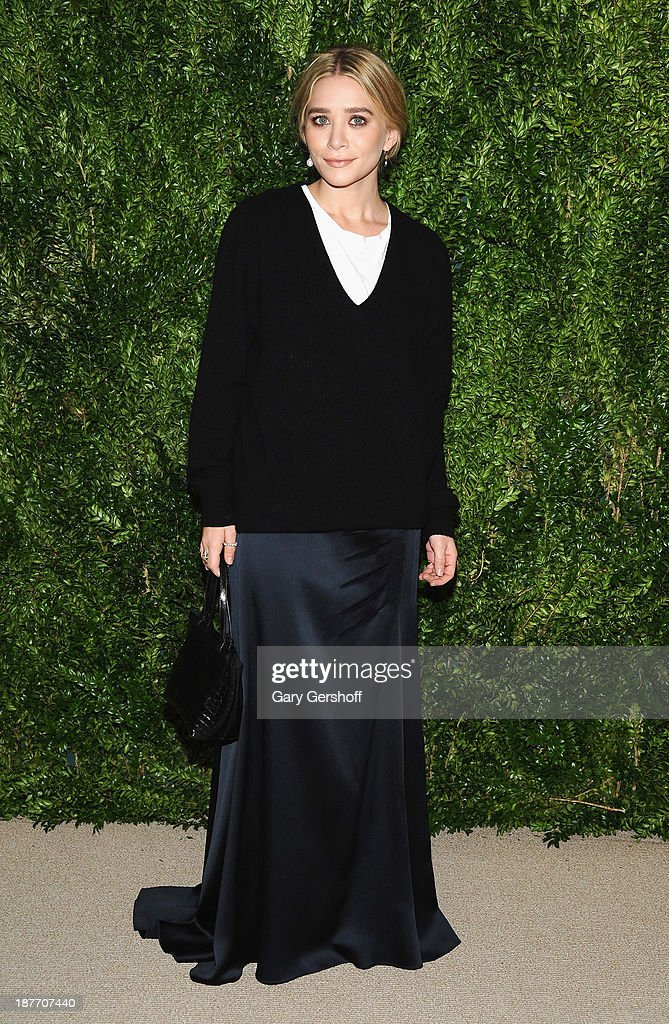 Actress <a gi-track='captionPersonalityLinkClicked' href=/galleries/search?phrase=Ashley+Olsen&family=editorial&specificpeople=156429 ng-click='$event.stopPropagation()'>Ashley Olsen</a> attends The CFDA and Vogue 2013 Fashion Fund Finalists Celebration at Spring Studios on November 11, 2013 in New York City.