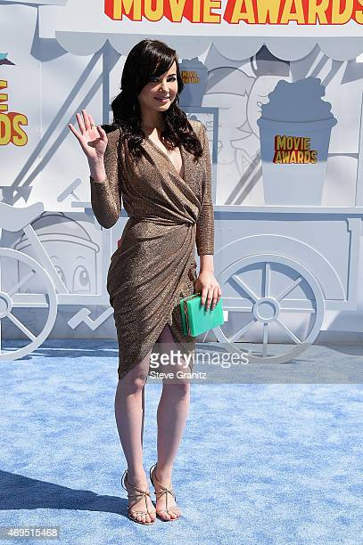 Actress Ashley Rickard attends the 2015 MTV Movie Awards at Nokia Theatre LA Live on April 12 2015 in Los Angeles California