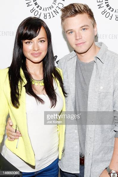 Actress Ashley Rickards and actor Brett Davern attend the premiere screening of MTV's 'Awkward' Season 2 at The Paley Center for Media on June 21...