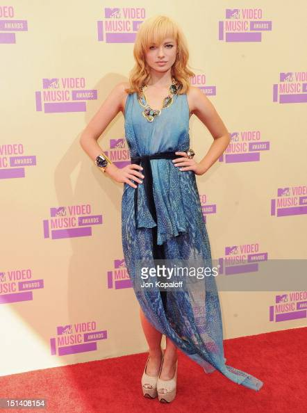 Actress Ashley Rickards arrives at the 2012 MTV Video Music Awards at Staples Center on September 6 2012 in Los Angeles California