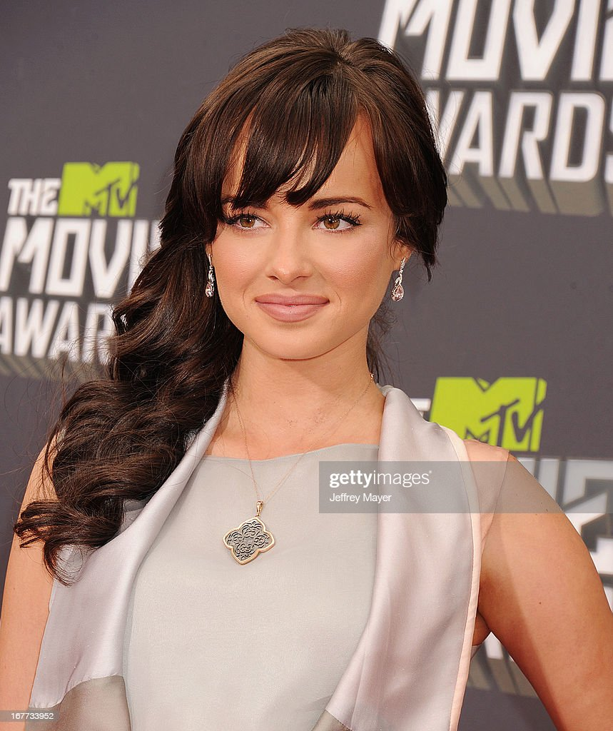 Actress Ashley Rickards arrives at the 2013 MTV Movie Awards at Sony Pictures Studios on April 14, 2013 in Culver City, California.