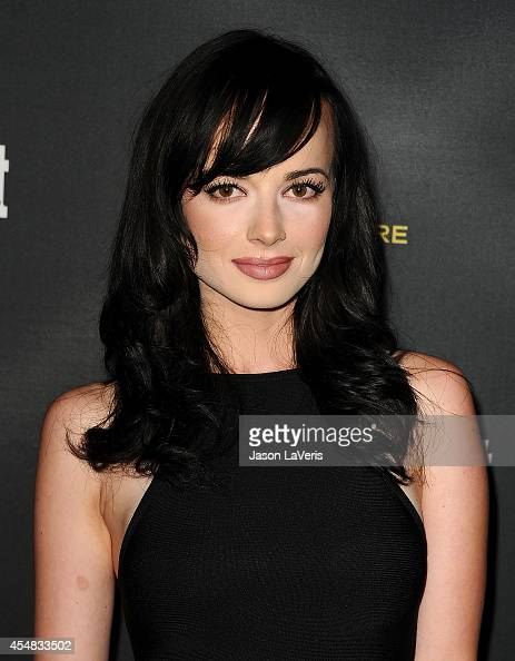 Actress Ashley Rickards attends the 2014 Entertainment Weekly preEmmy party at Fig Olive Melrose Place on August 23 2014 in West Hollywood California
