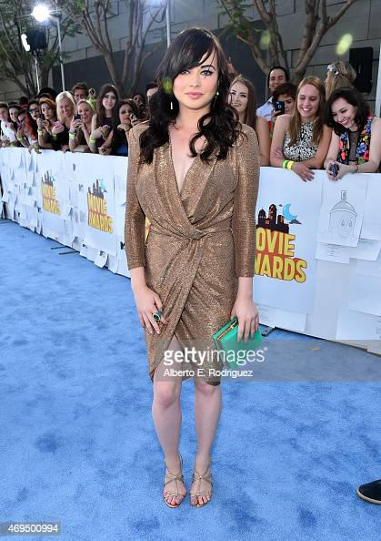 Actress Ashley Rickards attends The 2015 MTV Movie Awards at Nokia Theatre LA Live on April 12 2015 in Los Angeles California