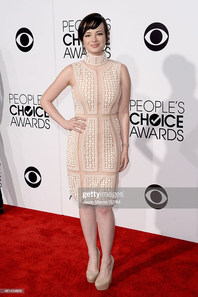 Actress Ashley Rickards attends The 40th Annual People's Choice Awards at Nokia Theatre LA Live on January 8 2014 in Los Angeles California