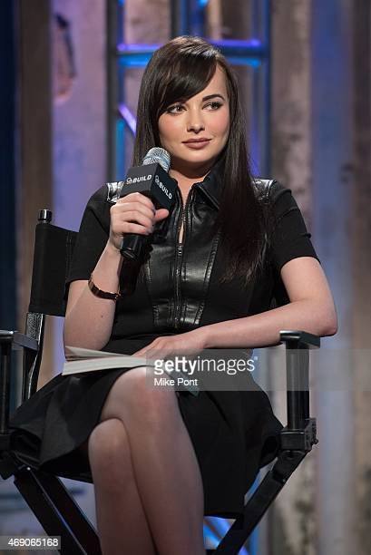 Actress Ashley Rickards attends the AOL BUILD Speaker Series Ashley Rickards Discusses Her New Book 'A Guide To Really Getting It Together' at AOL...