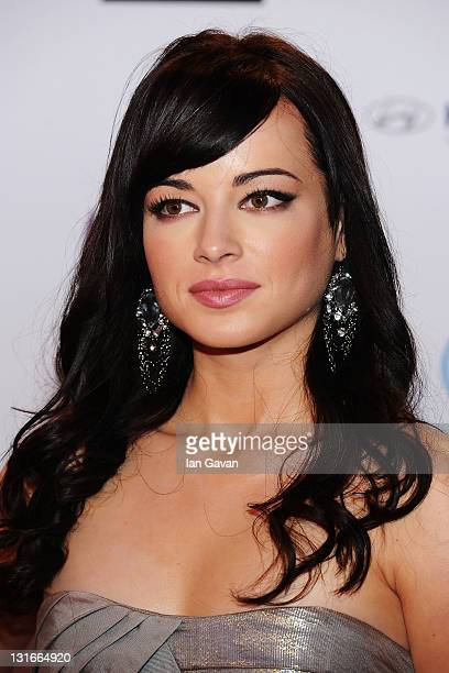 Actress Ashley Rickards attends the MTV Europe Music Awards 2011 at the Odyssey Arena on November 6 2011 in Belfast Northern Ireland