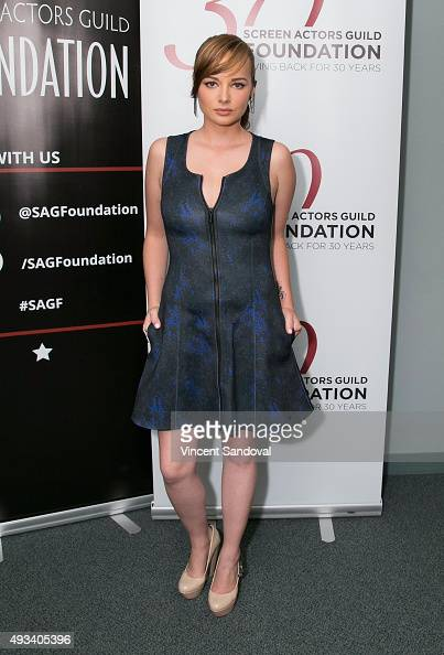 Actress Ashley Rickards attends The SAG Foundation's 'Conversations' series presents MTV's 'Awkward' at SAG Foundation Actors Center on October 19...