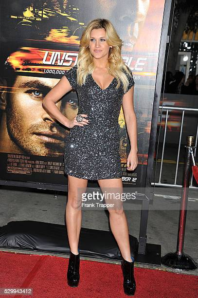 Actress Ashley Roberts arrives at the premiere of 'Unstoppable' held at the Regency Village Theater in Westwood