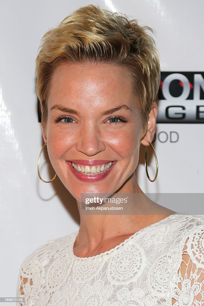 Actress Ashley Scott attends the Sassi By Nancy E & GG Spring 2013 Swimsuit Collection fashion show as part of Los Angeles Fashion Week at Stage 22 on March 13, 2013 in Los Angeles, California.