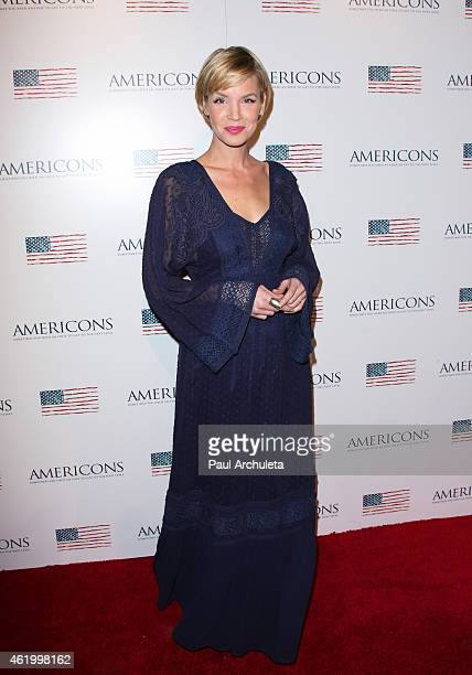 Actress Ashley Scott attends the screening of 'Americons' at ArcLight Cinemas on January 22 2015 in Hollywood California