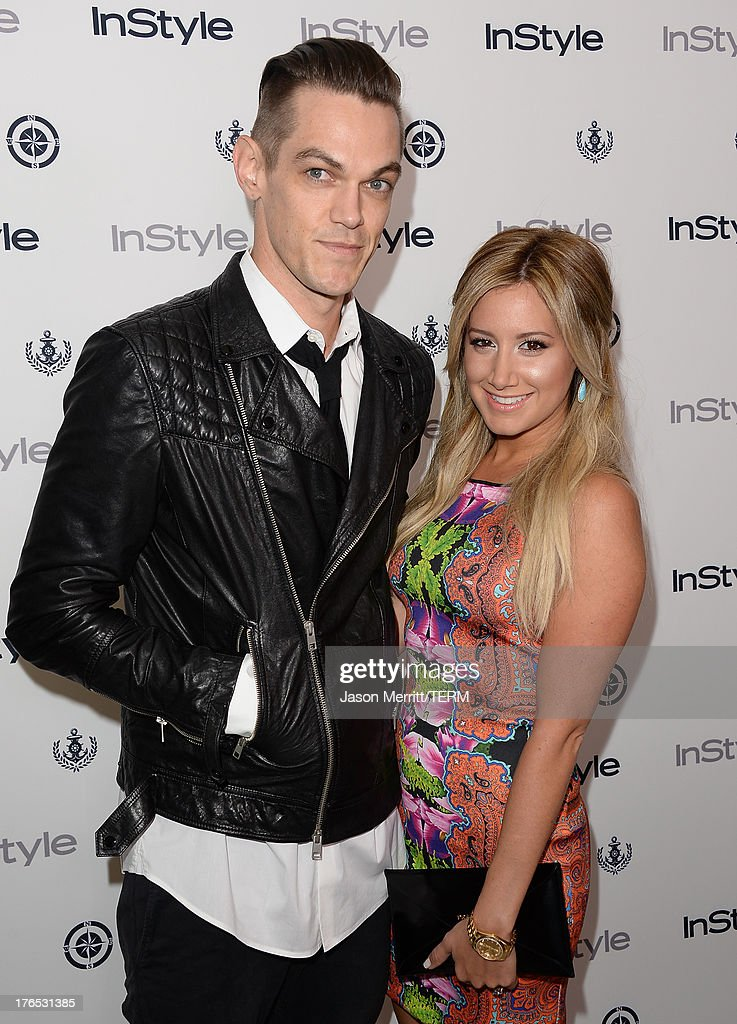 Actress <a gi-track='captionPersonalityLinkClicked' href=/galleries/search?phrase=Ashley+Tisdale&family=editorial&specificpeople=213972 ng-click='$event.stopPropagation()'>Ashley Tisdale</a> and Christopher French attend the InStyle Summer Soiree held Poolside at the Mondrian hotel on August 14, 2013 in West Hollywood, California.