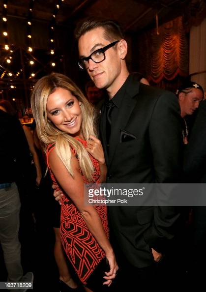 Actress Ashley Tisdale and Christopher French attend the 'Spring Breakers' premiere after party at The Emerson Theatre on March 14 2013 in Hollywood...
