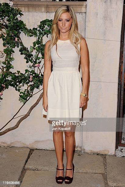 Actress Ashley Tisdale arrives at MIU MIU Presents Lucrecia Martel's 'Muta' on July 19 2011 in Beverly Hills California