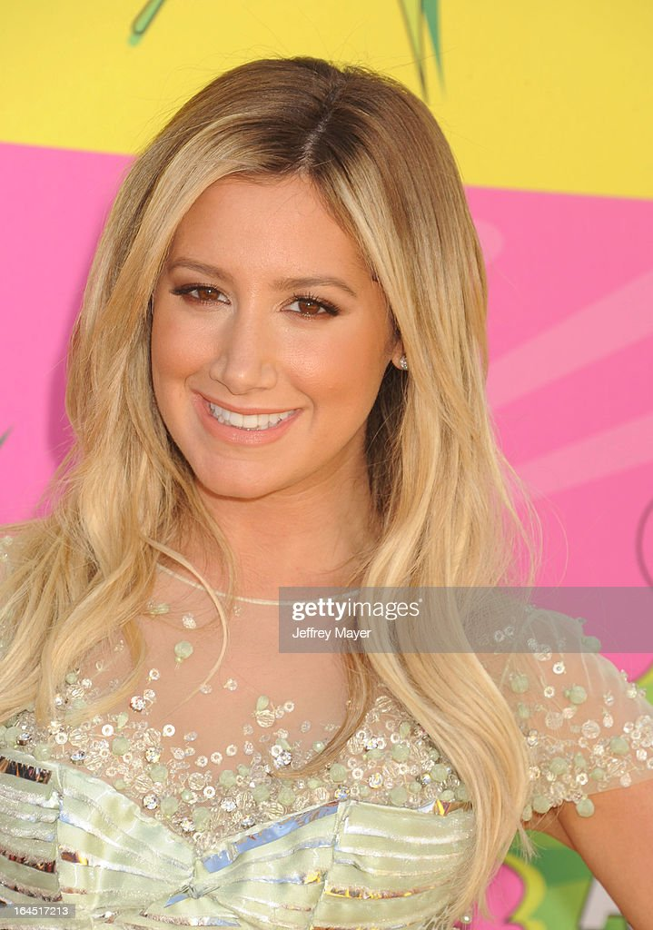 Actress Ashley Tisdale arrives at Nickelodeon's 26th Annual Kids' Choice Awards at USC Galen Center on March 23, 2013 in Los Angeles, California.