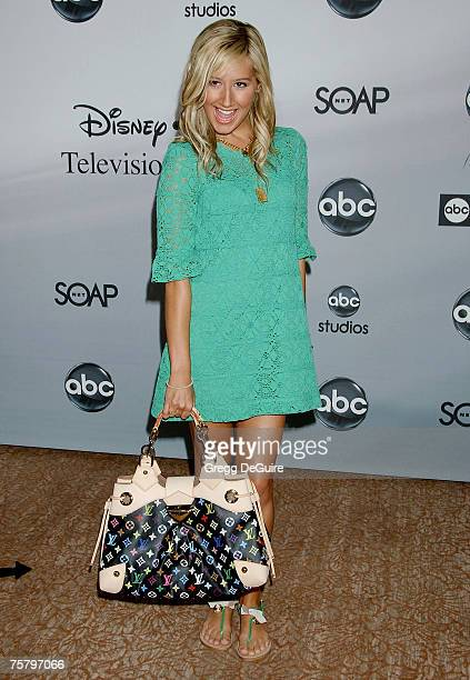 Actress Ashley Tisdale arrives at the ABC Summer Press Tour Party at the Beverly Hilton Hotel on July 26 2007 in Beverly Hills California