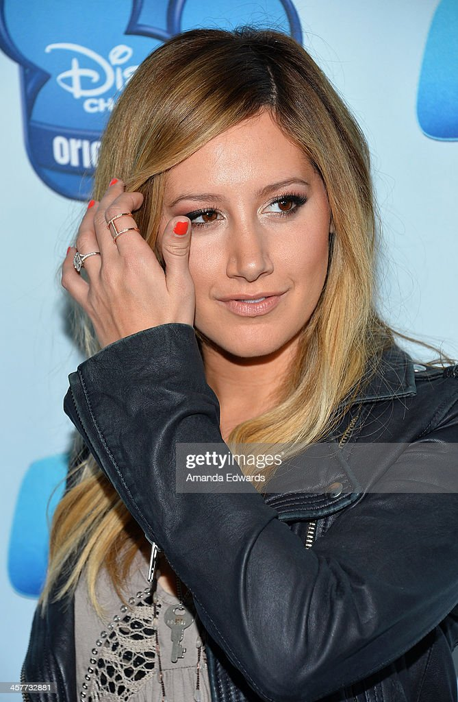 Actress Ashley Tisdale arrives at the Disney Channel's Original Movie 'Cloud 9' red carpet premiere on December 18, 2013 in Burbank, California.