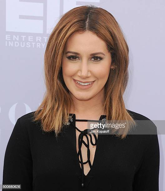 Actress Ashley Tisdale arrives at The Hollywood Reporter's Annual Women In Entertainment Breakfast at Milk Studios on December 9 2015 in Los Angeles...