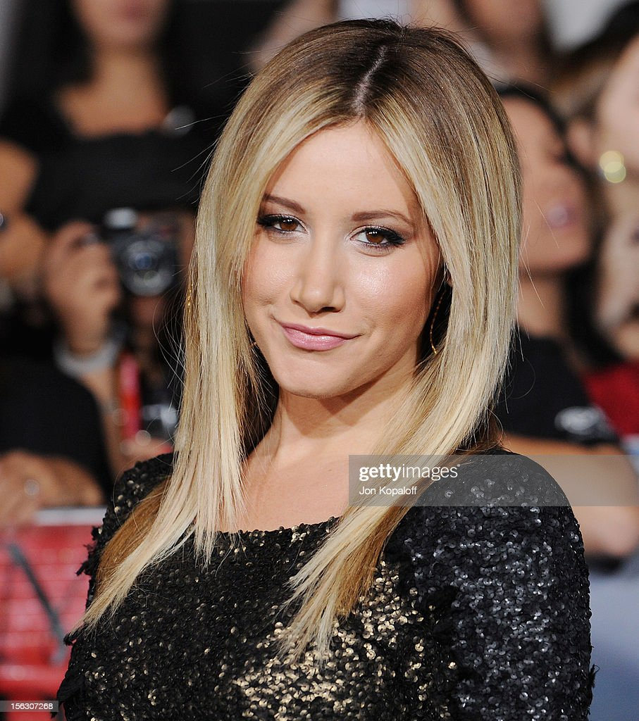 Actress Ashley Tisdale arrives at the Los Angeles Premiere 'The Twilight Saga: Breaking Dawn - Part 2' at Nokia Theatre L.A. Live on November 12, 2012 in Los Angeles, California.