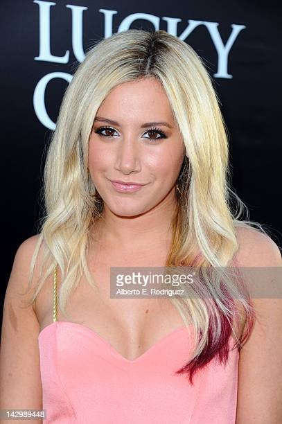 Actress Ashley Tisdale arrives at the premiere of Warner Bros Pictures' 'The Lucky One' at Grauman's Chinese Theatre on April 16 2012 in Hollywood...
