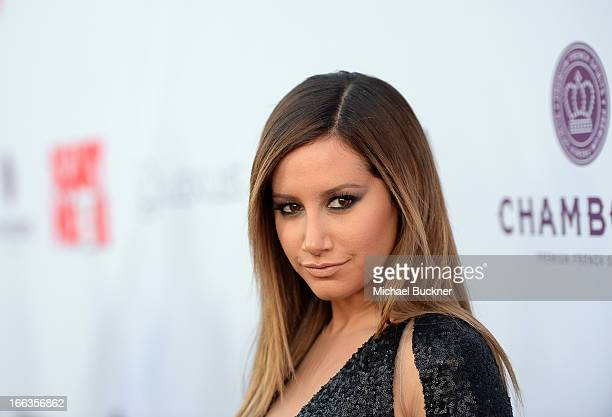 Actress Ashley Tisdale arrives for the premiere of Dimension Films' 'Scary Movie 5' at ArcLight Cinemas Cinerama Dome on April 11 2013 in Hollywood...