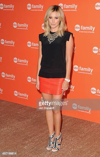 Actress Ashley Tisdale arrives the Disney|ABC Television Group 2014 Television Critics Association Summer Press Tour at The Beverly Hilton Hotel on...