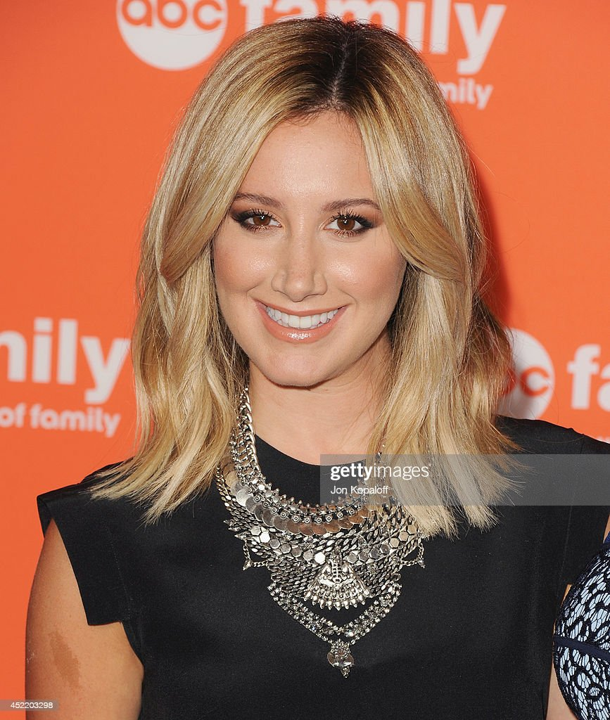 Actress Ashley Tisdale arrives the Disney ABC Television Group 2014 Television Critics Association Summer Press Tour at The Beverly Hilton Hotel on...