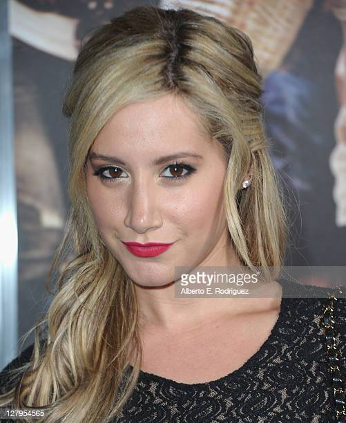 Actress Ashley Tisdale arrives to the premiere of Paramount Pictures' 'Footloose' on October 3 2011 in Los Angeles California