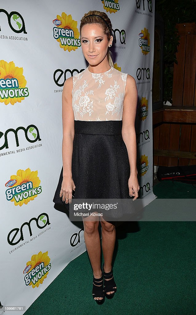 Actress Ashley Tisdale attends Celebrities and the EMA Help Green Works Launch New Campaign at Sur Restaurant on January 23, 2013 in Los Angeles, California.