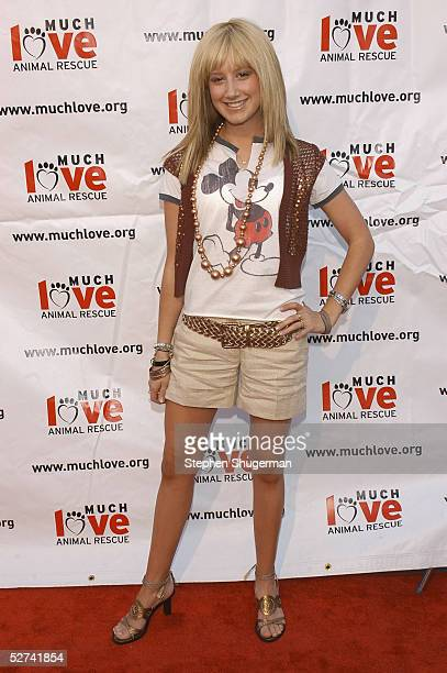 Actress Ashley Tisdale attends Much Love Animal Rescue Present's Shop 'Til You Drool at the 5th Sunset Studios on April 30 2005 in Los Angeles...