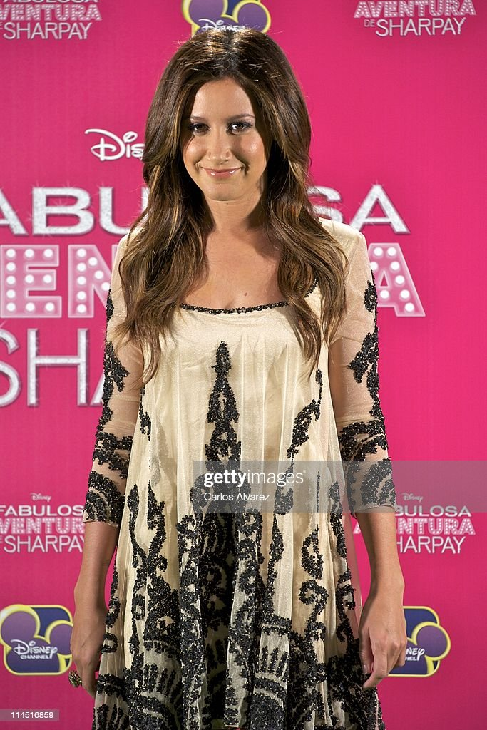 Actress <a gi-track='captionPersonalityLinkClicked' href=/galleries/search?phrase=Ashley+Tisdale&family=editorial&specificpeople=213972 ng-click='$event.stopPropagation()'>Ashley Tisdale</a> attends 'Sharpay's Fabulous Adventure' (La Fabulosa aventura de Sharpay) photocall on May 23, 2011 in Madrid, Spain.