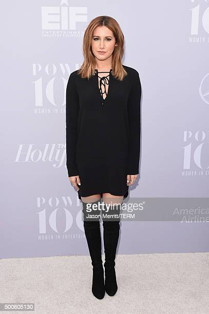 Actress Ashley Tisdale attends the 24th annual Women in Entertainment Breakfast hosted by The Hollywood Reporter at Milk Studios on December 9 2015...