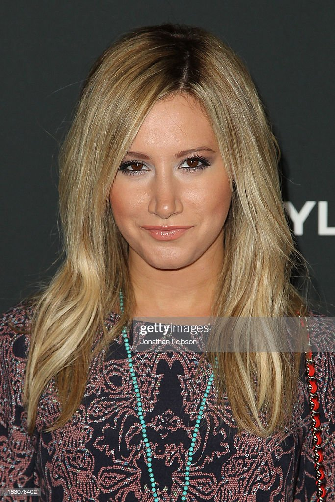 Actress <a gi-track='captionPersonalityLinkClicked' href=/galleries/search?phrase=Ashley+Tisdale&family=editorial&specificpeople=213972 ng-click='$event.stopPropagation()'>Ashley Tisdale</a> attends the AMC's 'The Walking Dead' - Season 4 Premiere Party at AMC Universal City Walk on October 3, 2013 in Universal City, California.
