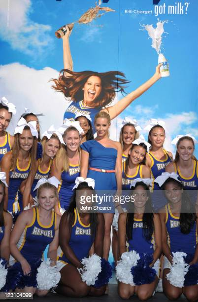 Actress Ashley Tisdale attends the 'Be Strong' Challenge and unveils her 'Got Milk' advertisement at The Grove on August 30 2011 in Los Angeles...