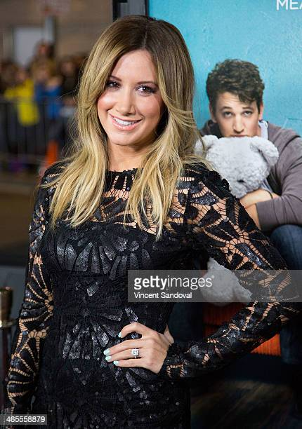 Actress Ashley Tisdale attends the Los Angeles Premiere of 'That Awkward Moment' at Regal Cinemas LA Live on January 27 2014 in Los Angeles California