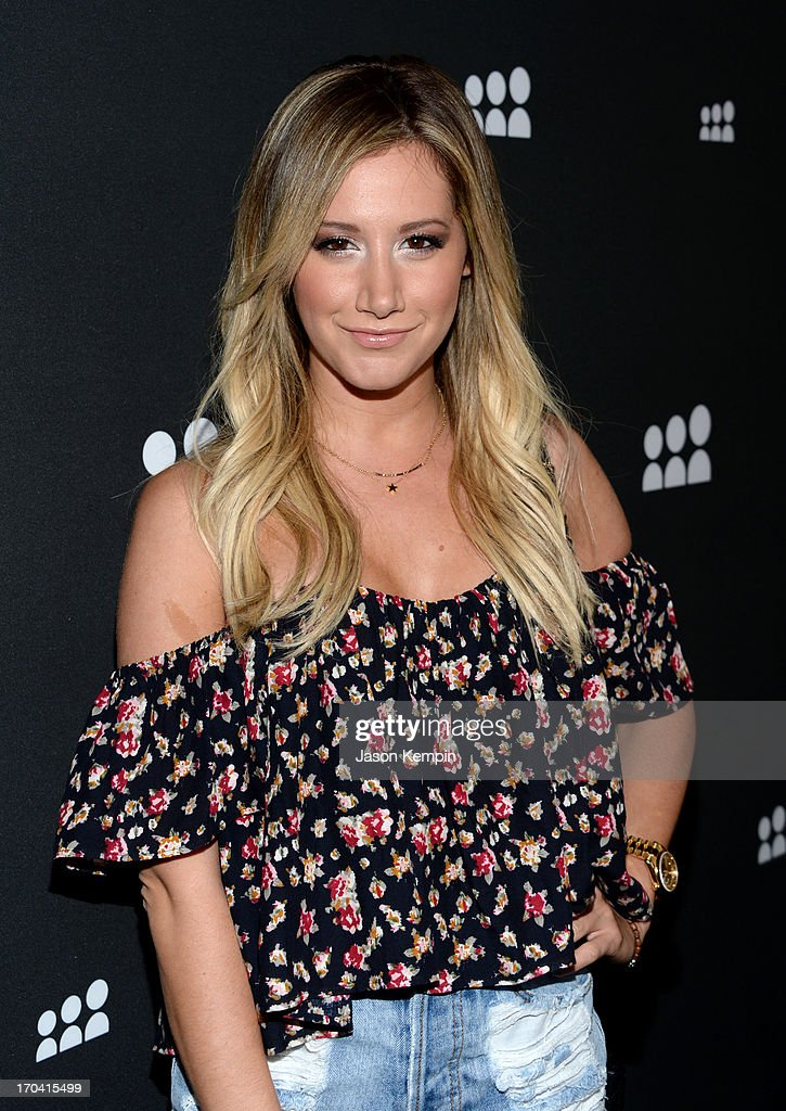 Actress Ashley Tisdale attends the new Myspace launch event at the El Rey Theatre on June 12, 2013 in Los Angeles, California