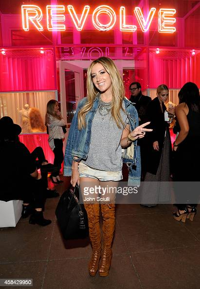 Actress Ashley Tisdale attends the REVOLVE PopUp Launch Party at The Grove on November 4 2014 in Los Angeles California