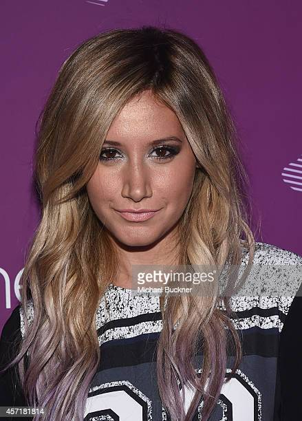Actress Ashley Tisdale attends the Virgin America Dallas Love Field Launch Celebration at the House of Blues on October 13 2014 in Dallas Texas
