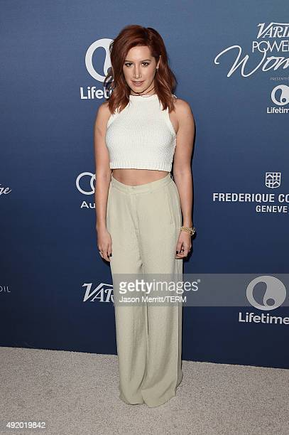 Actress Ashley Tisdale attends Variety's Power Of Women Luncheon at the Beverly Wilshire Four Seasons Hotel on October 9 2015 in Beverly Hills...