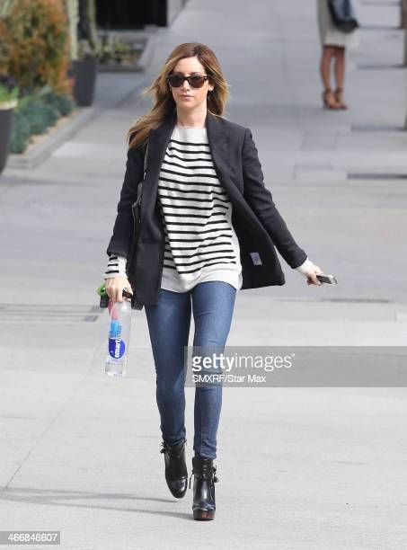 Actress Ashley Tisdale is seen on February 4 2014 in Los Angeles California