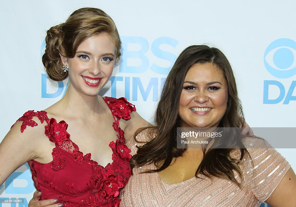 Actress Ashlyn Pearce (L) and Head of CBS Daytime Programming Angelica McDaniel (R) attend the 41st Annual Daytime Emmy Awards CBS after party at The Beverly Hilton Hotel on June 22, 2014 in Beverly Hills, California.
